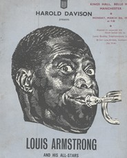 Louis Armstrong poster for his performance at Belle Vue