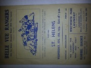Belle Vue Rangers programme from 1954