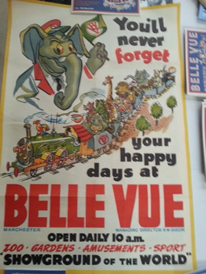Belle Vue advertising poster from 50s or 60s