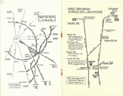 Directions and transport information for Belle Vue as featured in the 1944-1945 Hallé season prospectus