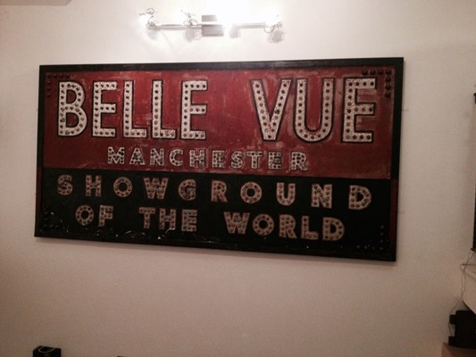 Original Belle Vue sign