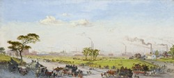 Manchester from Belle Vue, 1861 by George Danson