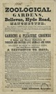 Broadside advertising Zoological Gardens at Belle Vue, 1848