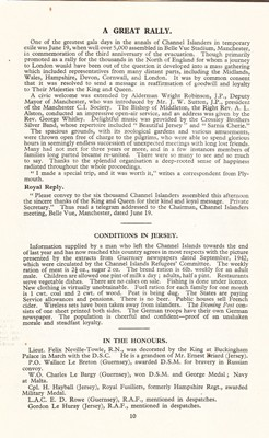 Evacuee rally report from June 1943