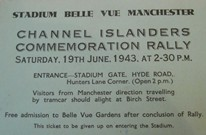 Ticket from June 1943 Channel Islanders rally